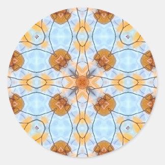 Azules y oros del otoño pegatina redonda
