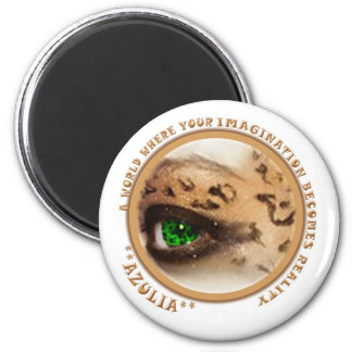 Azulia Animal Eye 2 Inch Round Magnet