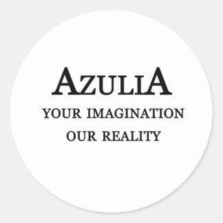 Azulia Tagline Round Sticker