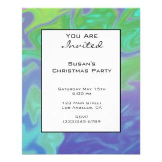 Azulverde colorido del navidad tarjetas informativas