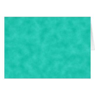 Azulverde de la turquesa Marbleized Tarjeta De Felicitación