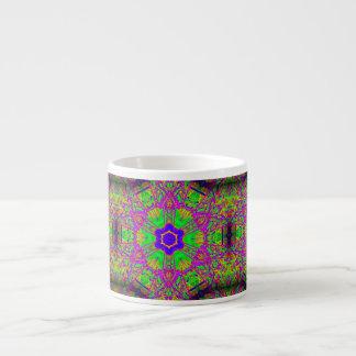 azulverde púrpura de la estrella del seis-punto tazitas espresso