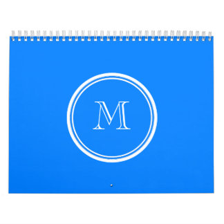 Azur High End Colored Monogram Initial Calendar