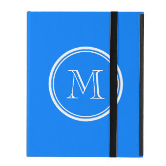Azur High End Colored Monogram Initial iPad Cover