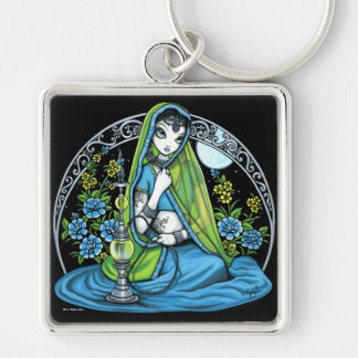 """Azura"" Hindi Flower Hookah Princess Fae Keychain"