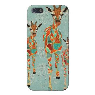 Azure & Amber Giraffes i Case For iPhone 5