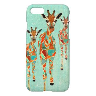 Azure & Amber Giraffes iPhone 7 Case