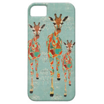 Azure & Amber Giraffes iPhone Case