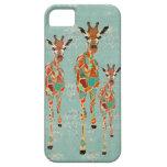 Azure & Amber Giraffes iPhone Case iPhone 5 Cases