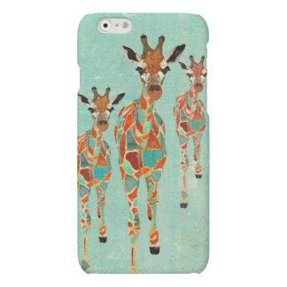 Azure & Amber Giraffes Matte iPhone 6 Case
