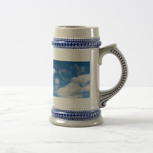 Azure and Clouds 18 Oz Beer Stein