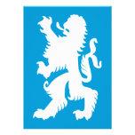 Azure and White Bavarian Lion Custom Invitation