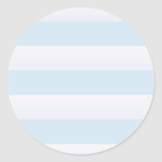 Azure Beach Stripe Classic Round Sticker