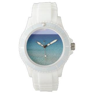Azure Blue Beach Wrist Watches