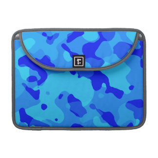 Azure Blue Camo; Camouflage Sleeves For MacBook Pro