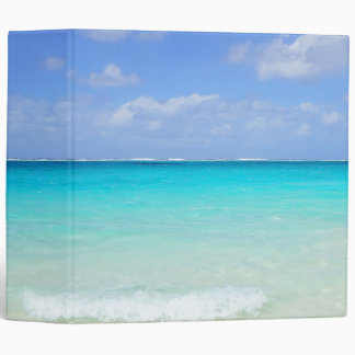 Azure Blue Caribbean Tropical Beach Binder