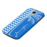 Azure Blue Chevron; Summer Palm Samsung Galaxy S4 Cover