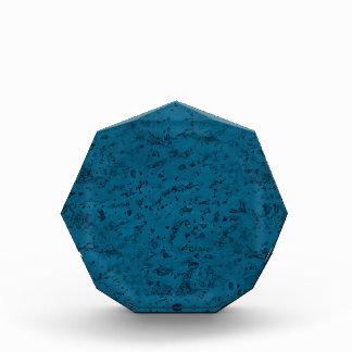Azure Blue Cork Look Wood Grain Acrylic Award