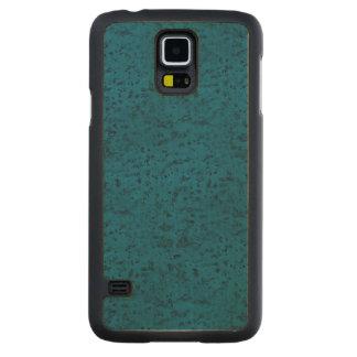 Azure Blue Cork Look Wood Grain Carved® Maple Galaxy S5 Case