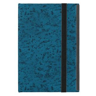 Azure Blue Cork Look Wood Grain Cover For iPad Mini