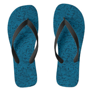Azure Blue Cork Look Wood Grain Flip Flops