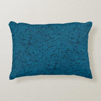 Azure Blue Cork Look Wood Grain Accent Pillow