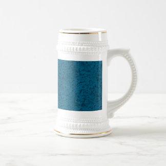 Azure Blue Cork Look Wood Grain 18 Oz Beer Stein