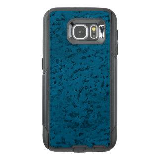 Azure Blue Cork Look Wood Grain OtterBox Samsung Galaxy S6 Case