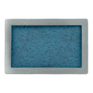 Azure Blue Cork Look Wood Grain Rectangular Belt Buckle