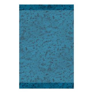 Azure Blue Cork Look Wood Grain Stationery