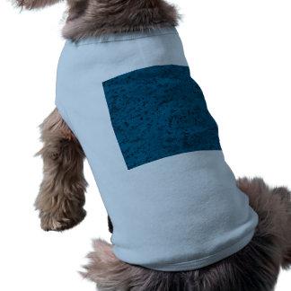 Azure Blue Cork Look Wood Grain T-Shirt