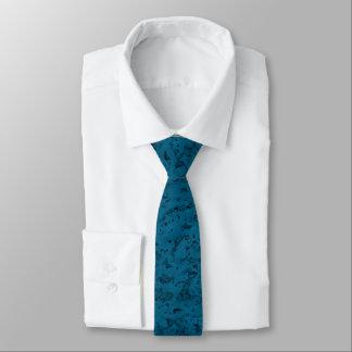 Azure Blue Cork Look Wood Grain Tie