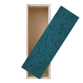 Azure Blue Cork Look Wood Grain Wooden Keepsake Box