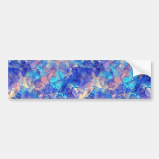 Azure Blue Crumpled Texture Bumper Sticker