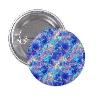 Azure Blue Crumpled Texture Pinback Button
