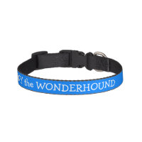 Azure Blue Dog Collar Personalized