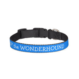 Azure Blue Dog Collar Personalized