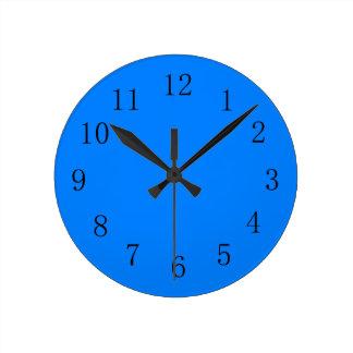 Azure Blue Kitchen Wall Clock
