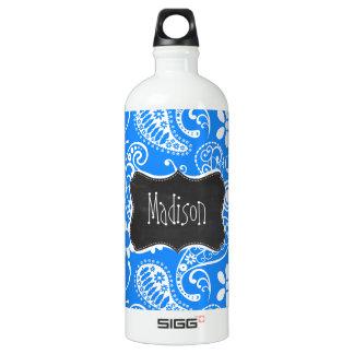 Azure Blue Paisley; Floral; Chalkboard SIGG Traveler 1.0L Water Bottle