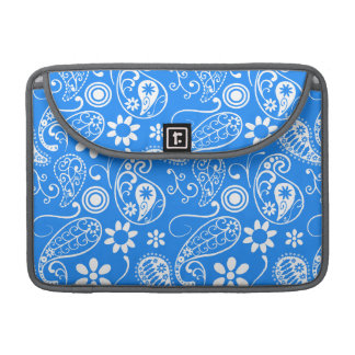 Azure Blue Paisley; Floral Sleeve For MacBook Pro