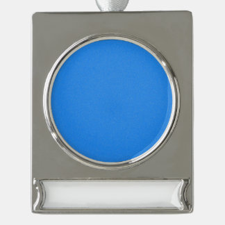 Azure Blue Star Dust Silver Plated Banner Ornament