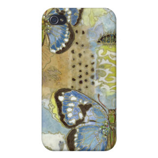 Azure Butterfly Cases For iPhone 4