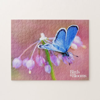 Azure Butterfly Jigsaw Puzzle
