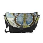 Azure Butterfly Messenger Bag