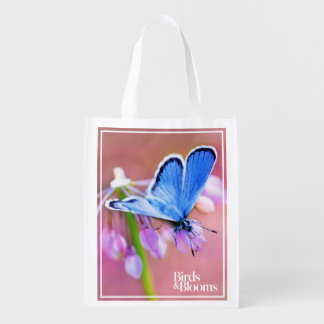 Azure Butterfly Reusable Grocery Bag