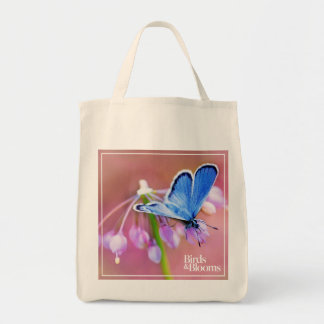 Azure Butterfly Tote Bag