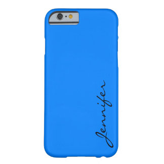 Azure color background barely there iPhone 6 case