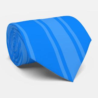 Azure Color Stripe Funky Pattern Tie