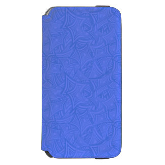 Azure curved shapes iPhone 6/6s wallet case