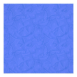Azure curved shapes photographic print